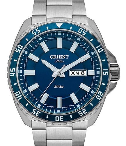 Relógio Orient Masculino Solar Azul  Mbss2027 D1sx