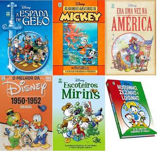 Coleção 6 Hqs Disney Capa Dura: Escoteiros Mirins; Mickey; M
