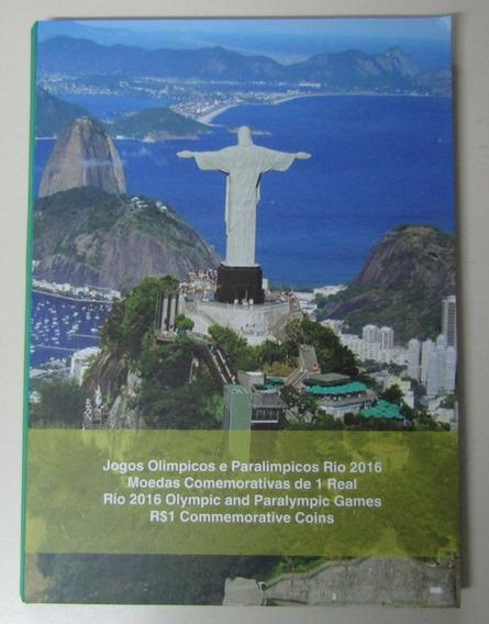 Brasil Album Lleno Monedas Encapsuladas Rio 2016 S/circular