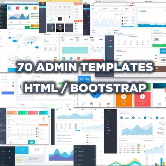 70 Templates Admin Premium Responsivos - Html 5 - Bootstrap
