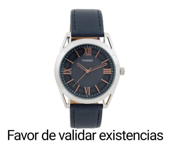 Reloj Thinner Azul