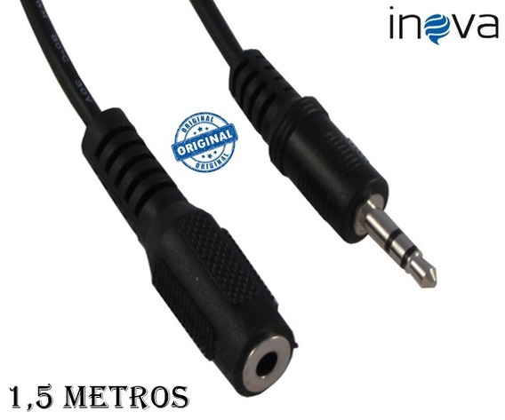 Cabo Extensor Extensão Audio P2 Macho E P2 Femea 1.5 Metros
