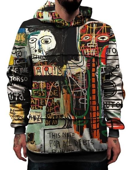 Moletom Ecologico Upcycling Basquiat Graffiti Pixo Swag 1 Mt