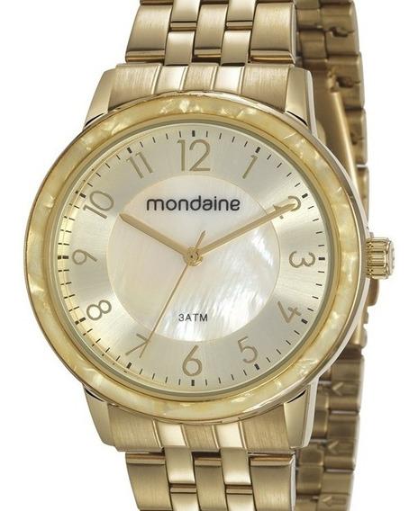 Relógio Mondaine Feminino Dourado Analógico
