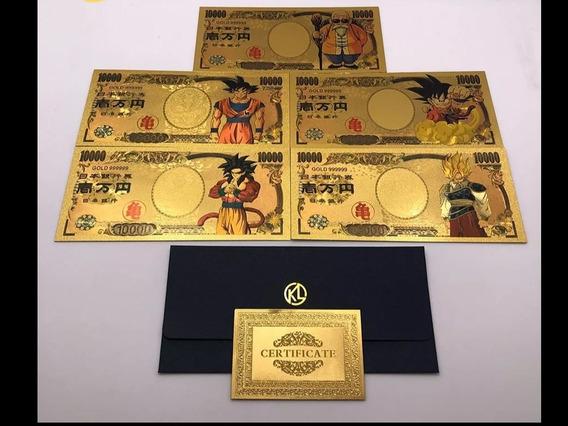 Cédulas Dragon Ball Z Dourada