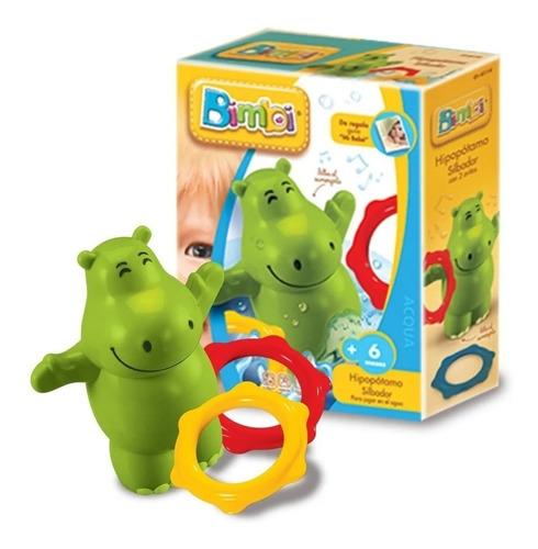 Juguete Para El Agua Bebe Hipopotamo Silbador Bimbi Edu 0114