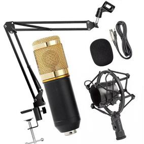 Microfone Estúdio Profissional Bm 800 + Placa De Som Usb