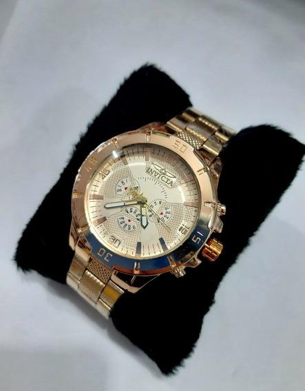 Kit 10 Relógio Masculino Dourado Prata Pesado Barato Atacado