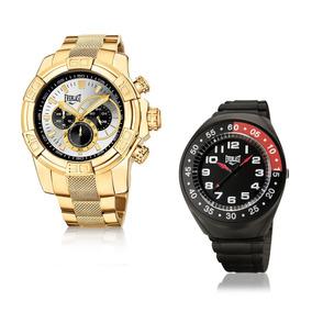 Relógio Everlast Masculino Dourado Analógico E646