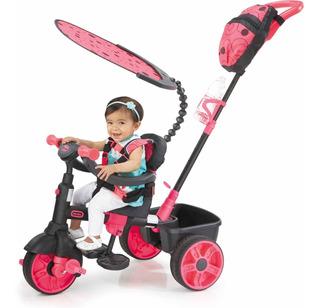 Little Tikes 4-en-1 Deluxe Edition Trike, Neon Pink