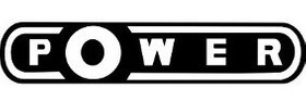 Emblema Adesivo Power Resinado Preto Gol Linha Vw