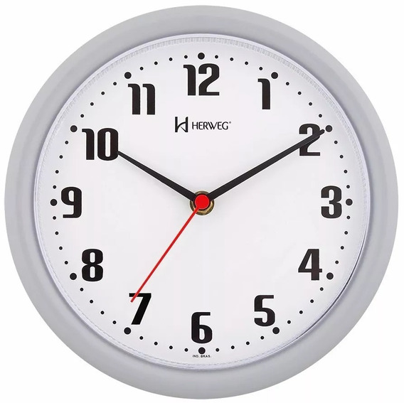 6102 - Relógio De Parede Herweg Original Novo Branco