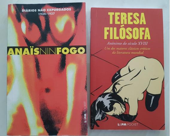 Lote Literatura Erótica Anais Nin Fogo E Teresa Filósofa