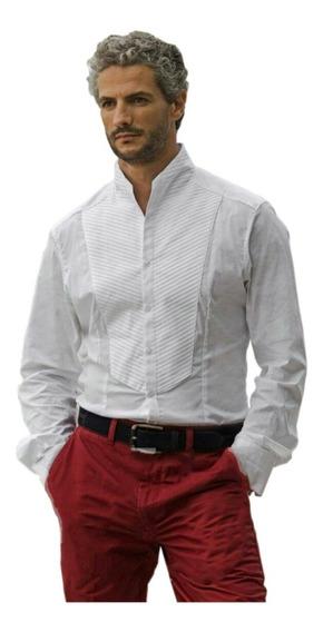 Camisa Guayabera Hombre 100% Algodón Manga Larga G014