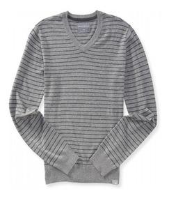 Tallas Grandes Aeropostale Thin Stripe Sweater Cuello V Xxxl