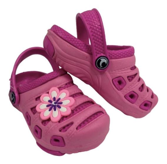 Babuche Em Eva Infantil Kids Preto/rosa