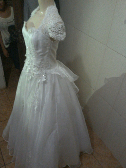 Vestido De Noiva Bordado A Mão