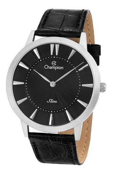 Relógio Unissex Couro Champion Ca21740t