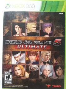 Jogo Dead Or Alive 5 Ultimate Xbox360 Ntsc Em Dvd Original