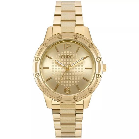 Relógio Feminino Euro Eu2035ynd/4d 40mm Aço Dourado