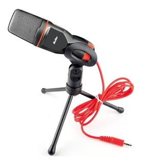 Micrófono Pc Con Trípode Condensador Profesional Podcast