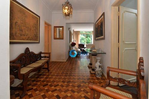 Belo Apartamento, Excelente Localização, Com 3 Dormitórios À Venda, 240 M² - Higienópolis - São Paulo/sp - Ap12002