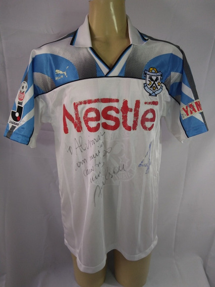 Camisa De Futebol Do Jubilo Iwata #4 Adilson Autografada