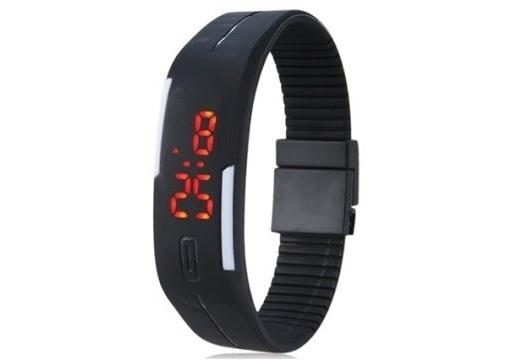 1 Relógio Pulseira Digital Led Academia Corrida Unissex Top