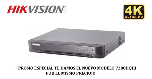 Dvr Hikvision Ds-7208hghi-f1/n, 8 Canales Cctv + 2 Ip, 1080p