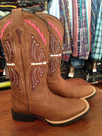 Bota Texana Feminina Borboleta