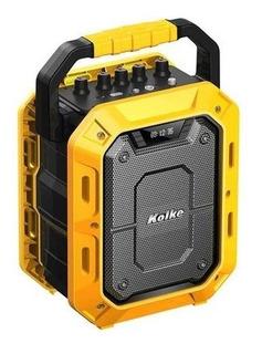 Parlante Kolke Bluetooth Kpm 259 Impact Amarillo