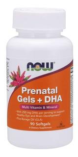 Prenatal Gels + Dha Cápsulas Vegetais - Now Importado