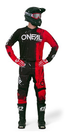 Jersey Y Pantalon Oneal Shred Rojo Motocross Enduro Atv Utv
