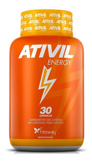 Ativil Energy - Cafeína 105mg - Fitoway 30 Cápsulas
