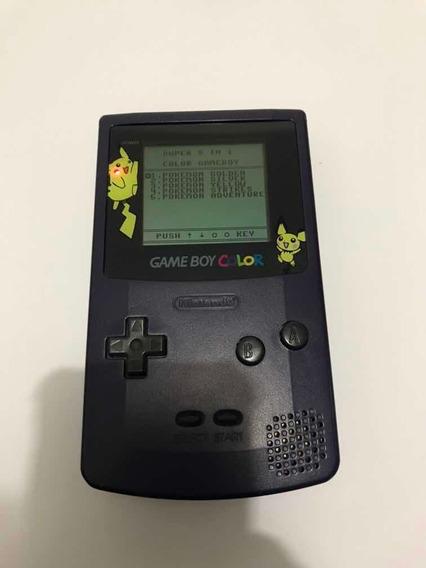 Game Boy Color Original Roxo, Com Pokémon Salvando!