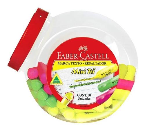 Destacador Mini Faber Castell X50 Unidades