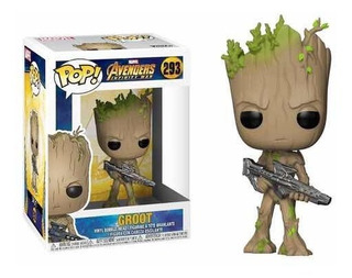 Funko Pop Figura Groot C/blaster Nro.293 Marvel Infinity War