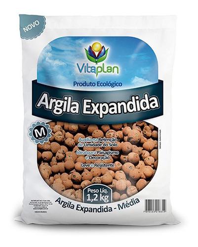 Imagem 1 de 1 de Argila Expandida 1,2kg - Vitaplan