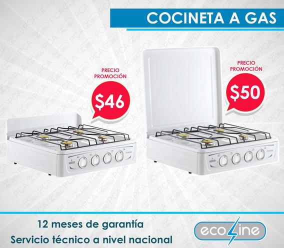 Cocineta A Gas Ecoline 4 Quemadores- 1 Año De Garantía