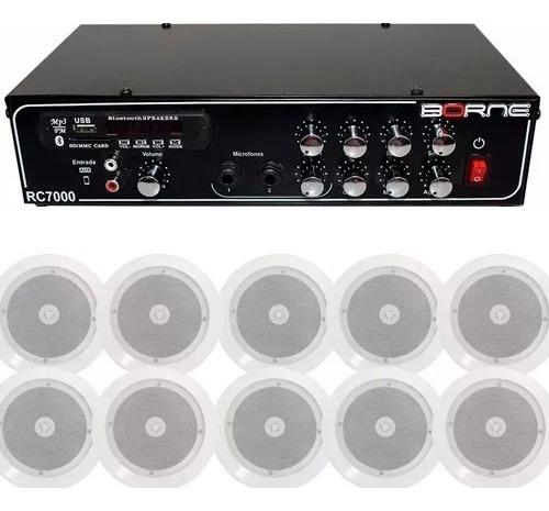 Kit Som Ambiente Borne Rc7000 Volume Individual 10 Arandelas