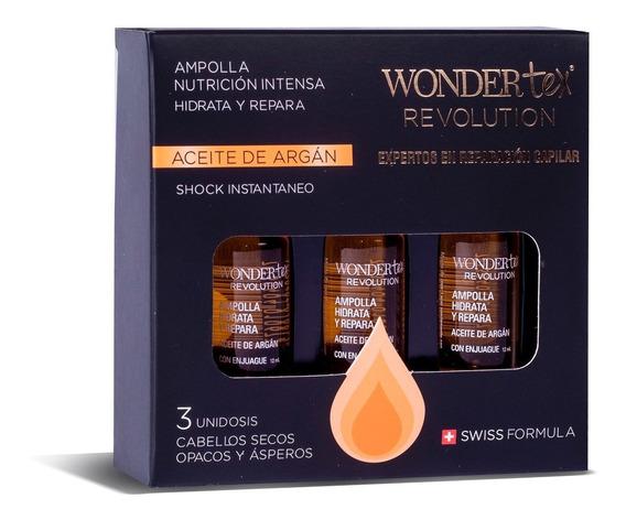 Ampollas Capilar Wonder Tex Aceite De Argan X3