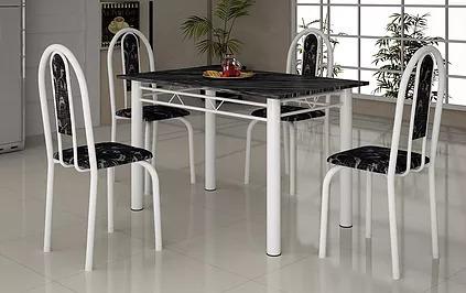 Mesa Para Cozinha Em Granito 120x75 Com 4 Cadeiras Só Rj