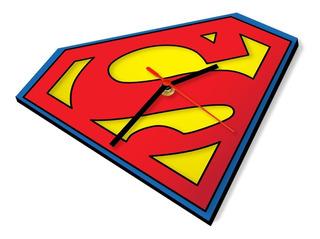 Reloj De Pared Superheroes Logo Superman Dc Comic Marvel