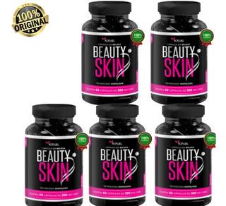 Colágeno Beauty Skin 5 Pote S/flacidez/celulite/rugas Oferta