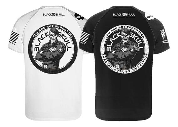 Kit 2x Camiseta Padrão - Branca/preta - Black Skull