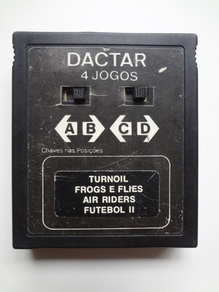 Fita Video Game Atari Dactar 4 Jogos Turnoil Frogs E Flies