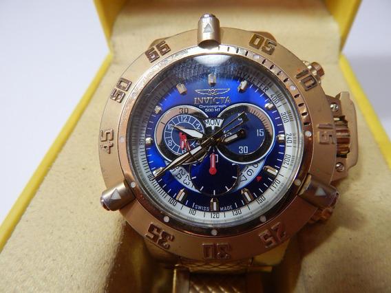 Relógio Masculino Invicta Chronograph 500mt Dourado