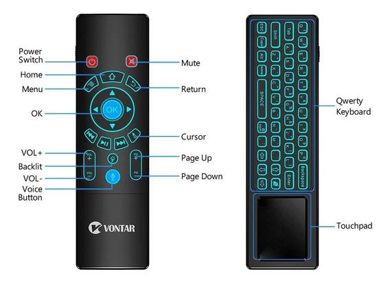 Controle Remoto Air Mouse Vontar T6 Plus - Mouse Teclado Voz