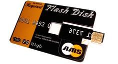 Pen Drive 4gb Ams Tipo Tarjeta De Crédito Con Cordón