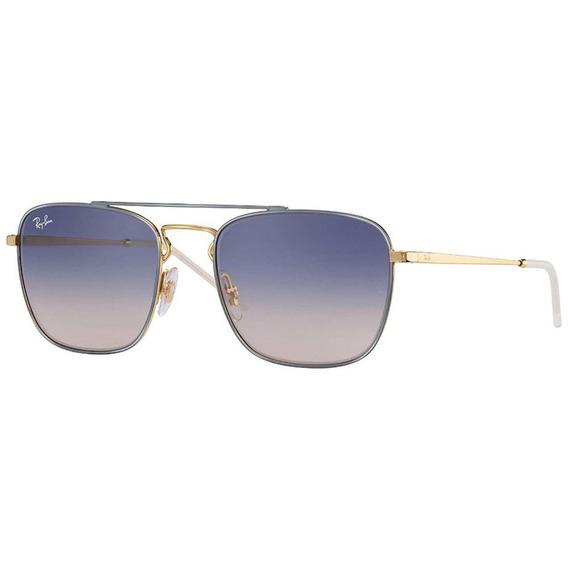Ray-ban Rb3588 9063i9 55 - Cinza-dourado/azul Gradiente